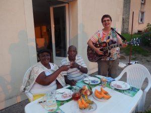 Amis guadeloupéens à table