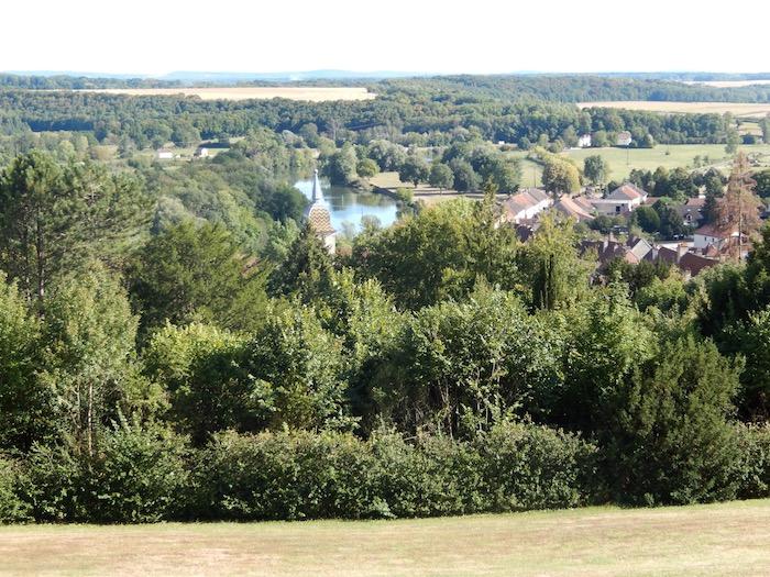 Vue sur la campagne environnante